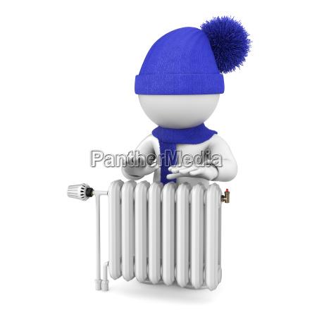 on warm radiator