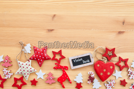 wooden background with poinsettias