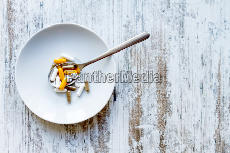 food supplements background