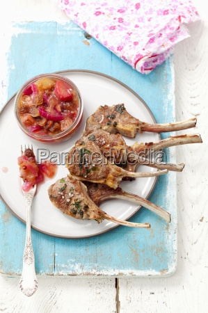 barbecued broiled chutney cuisine dish entree