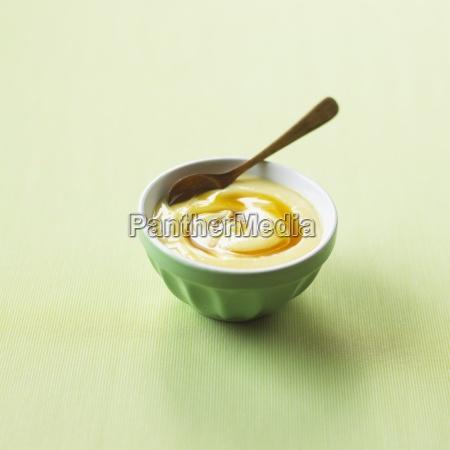 bright green caramel caramel sauce cold