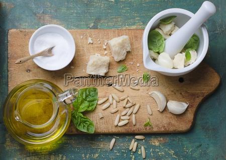 above basil basil pesto cheese cheeses