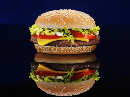 black background burger cheeseburger classic color