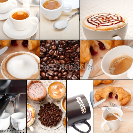 selection of different coffee type on