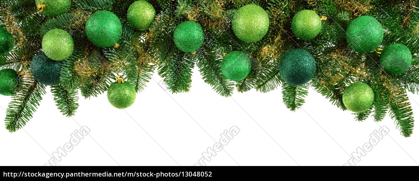 isolated, fir, branches, with, green, balls - 13048052