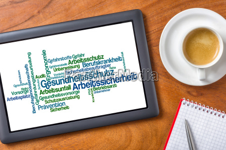 tablet on desk health protection