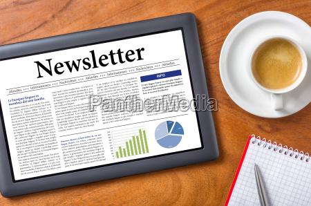 tablet desk newsletter