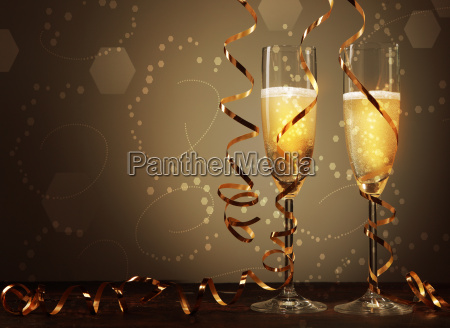 wine on elegant glass with spiral