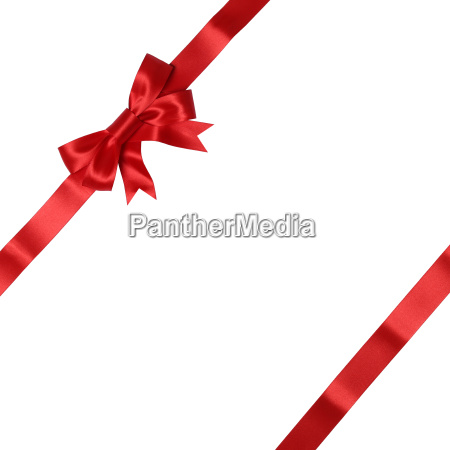 ribbon with bow on card for