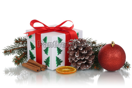 gift gift at christmas with decoration