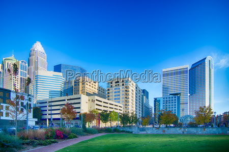 charlotte north carolina city skyline and