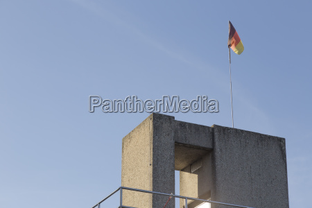 jumping tower with flag