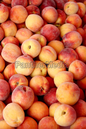 fresh organic peaches background photo