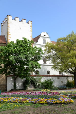 flowers at the zeughaus in amberg