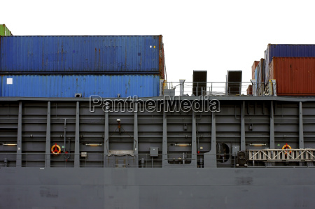 container ship side view