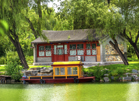 boat buidling canal summer palace beijing