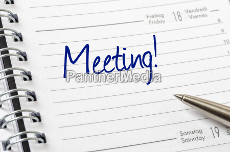 schedule with the entry meeting