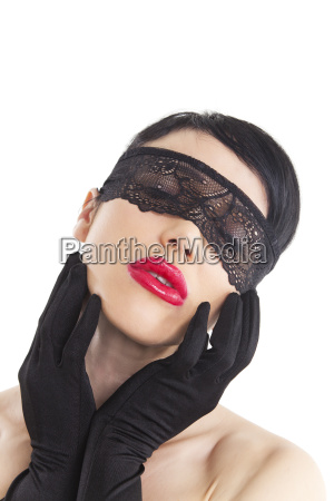 woman with a blindfold