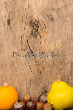 autumn mood in front of rustic