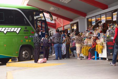 bus terminal in banos ecuador