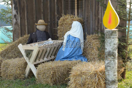 life size christmas nativity scene