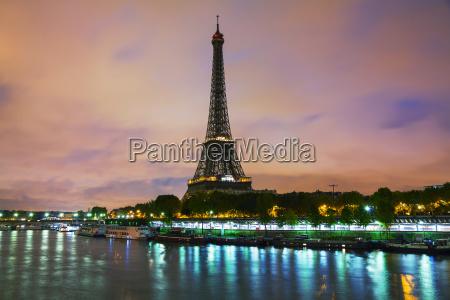 paris cityscape with eiffel tower