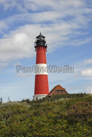 lighthouse in hoernum sylt