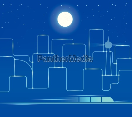 abstract background of night city
