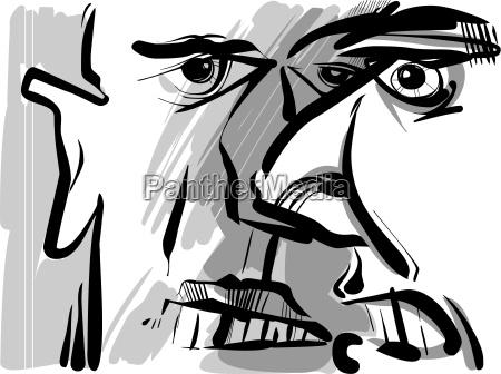 uomini uomo sentimenti emozioni illustrazione disegno