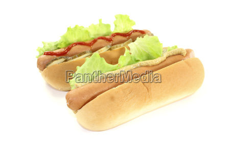 hot dogs with mustard and ketchup