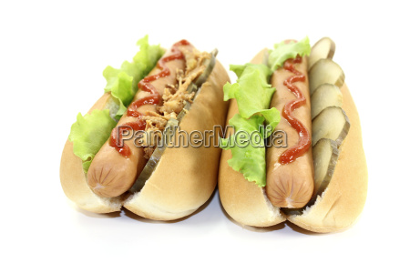 hot dogs with cucumber and onions