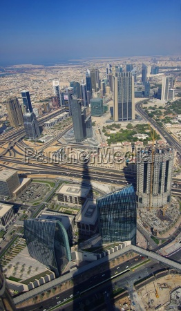 dubai panoramic aerial view