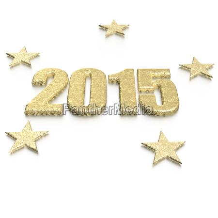 golden 2015 year card sample