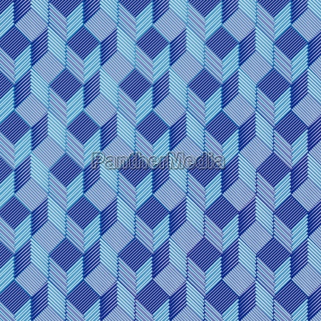 blue dice on a fabric pattern