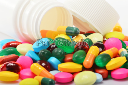 composition with variety of drug pills