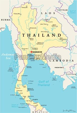 thailand political map