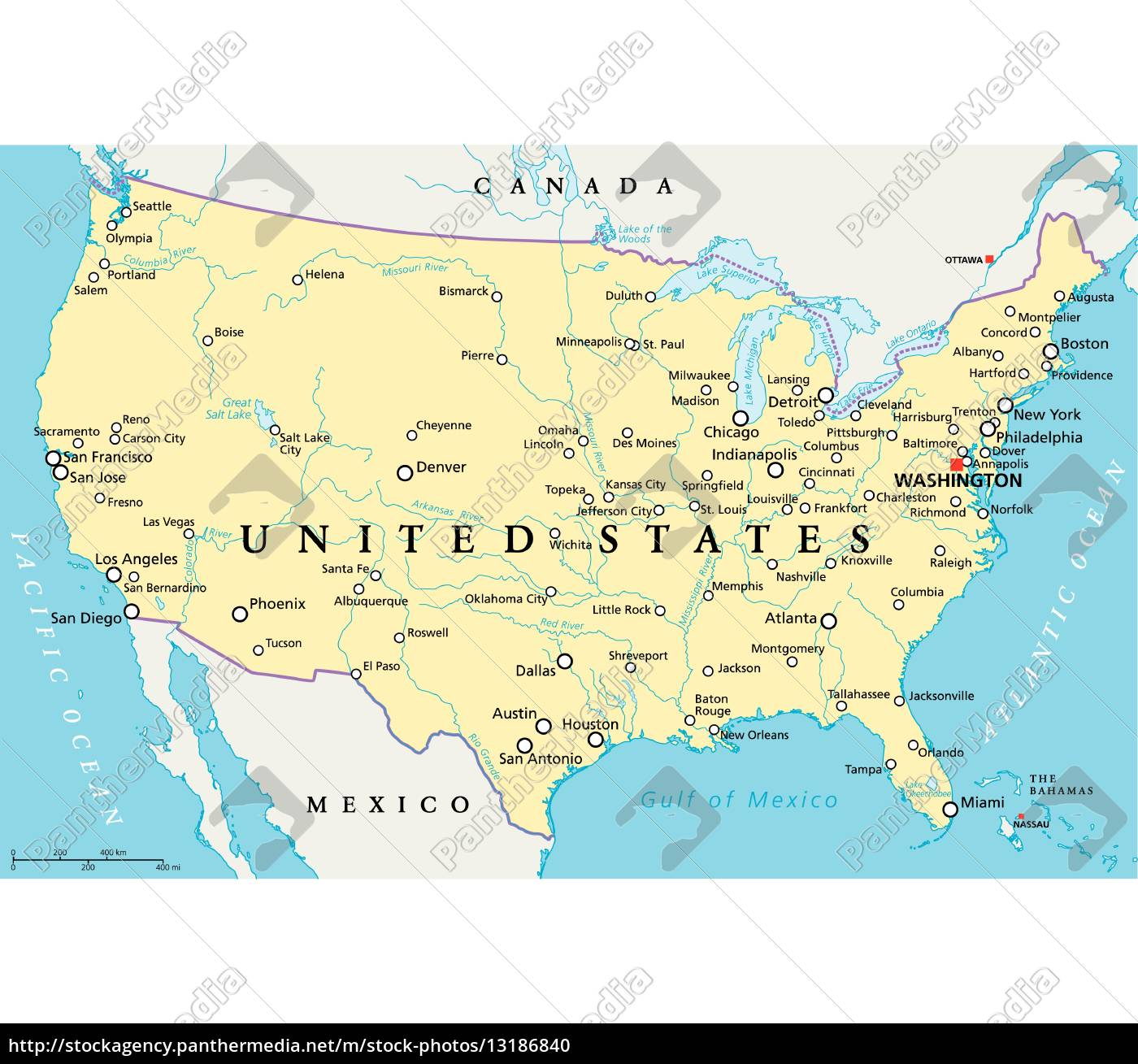 Political Map Of America States.Royalty Free Vector 13186840 United States Of America Political Map