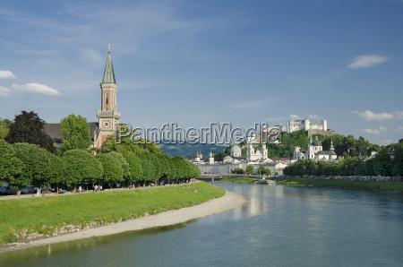 salzburg city historic center and evangelical