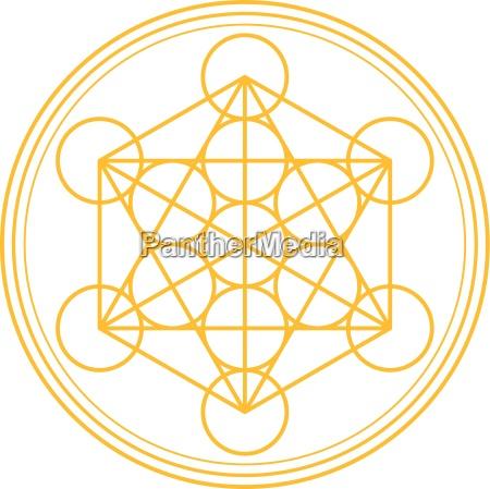 metatron, cube, gold - 13189706
