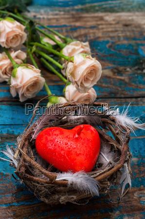 spring bird nest as a symbol