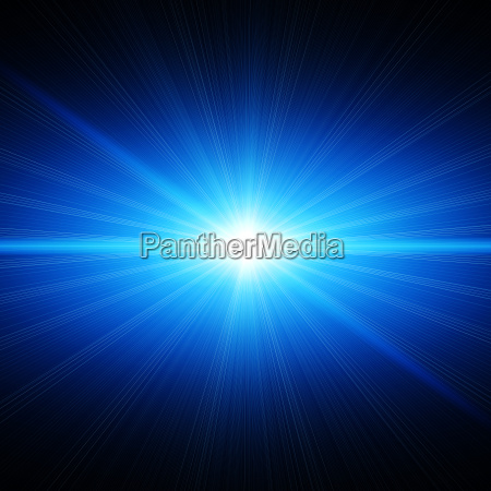 blue energy light in space
