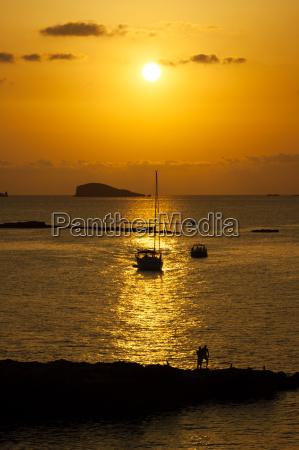 ibiza beautiful sunset in cala conta