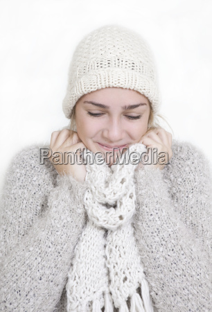 girl warm clothing