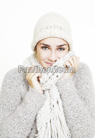 girl dressed warmly