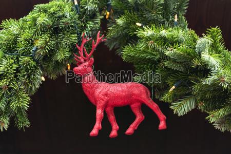 decoration deer christmas market