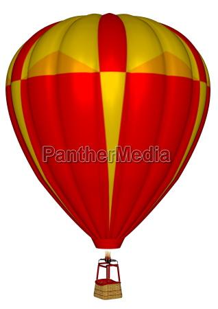 hot air balloon 3d render