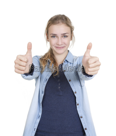 youth two thumbs up