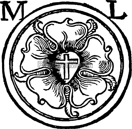 luther rose woodcut