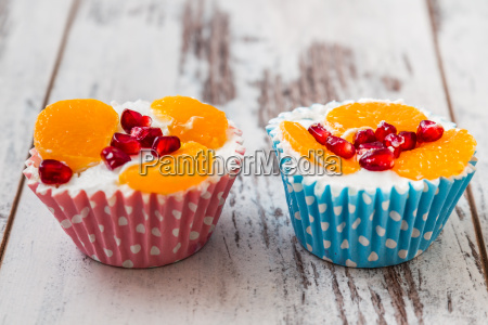 cupcakes with fruit