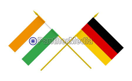 flags germany and india